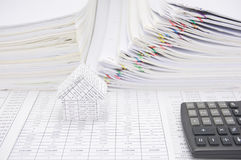 House on finance account have report and step overload paperwork Stock Images