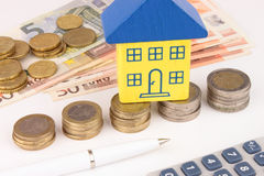 House Finance Euro Royalty Free Stock Photography