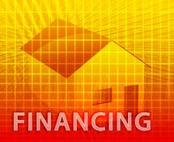 House Financing. Digital collage illustration, subprime loan Stock Photography