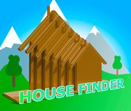 House Finder Means Finders Home And Found. House Finder Houses Means Finders Home And Found Royalty Free Stock Photo