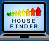 House Finder Representing Finders Home And Found. House Finder Laptop Representing Finders Home And Found Stock Photo