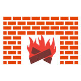 House fire. Decoration of house wall with ancient fire Stock Illustration