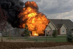 House fire 2 Stock Photo