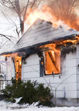 House Fire Royalty Free Stock Photos