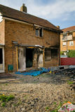 House fire burnt Stock Photo