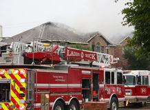 House fire Stock Image