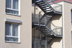 House with fire escapes Royalty Free Stock Photo