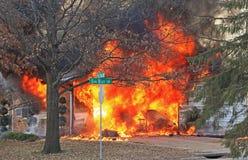 Fire on Oak Bluff 1 Royalty Free Stock Photo
