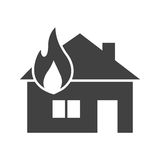 House on Fire. Fire, house, heat icon vector image. Can also be used for firefighting. Suitable for mobile apps, web apps and print media Royalty Free Stock Image