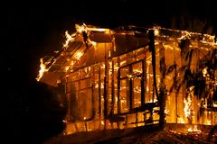 House fire. Stock Photography