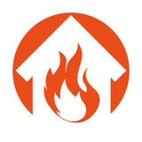 House fire insurance icon. Vector illustration design Stock Photography