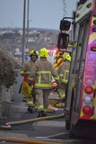 House Fire in Rottingdean Stock Image
