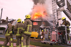 House Fire in Rottingdean Stock Photography