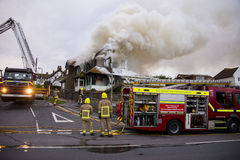 House Fire in Rottingdean Royalty Free Stock Photo