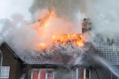 House Fire in Rottingdean Royalty Free Stock Images