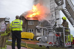 House Fire in Rottingdean Royalty Free Stock Photography