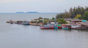 House of fisherman village in Thailand Royalty Free Stock Photo