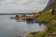 House of fishermen at the water Royalty Free Stock Images