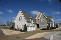 House fisheye. A modern dream home against bright blue sky Royalty Free Stock Photos