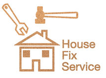 House fix service sign Royalty Free Stock Photography