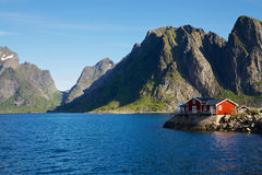 House by fjord Royalty Free Stock Images