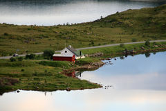 House in the fjord of Borg stock image