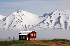 House at fjord of Iceland Royalty Free Stock Photography