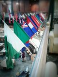 House of flags. Flags from around the world royalty free stock photo
