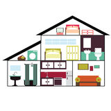 House. A flat design house ideal for infographics Royalty Free Stock Photos