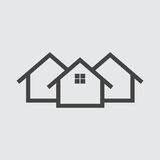 House flat Icon. Vector illustration Stock Photography
