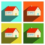 House Flat Icons Set. Isolated on white Background Stock Photo