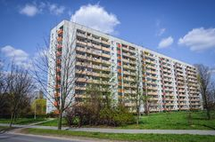 House of flats in Cracow. Typical house of flats in Cracow city in Poland stock photography