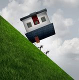 House Flipping Danger. And the financial risk to flip homes as a real estate renovation problem or residential mortgage debt concept as with 3D illustration vector illustration