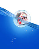House floating in bubble Royalty Free Stock Images