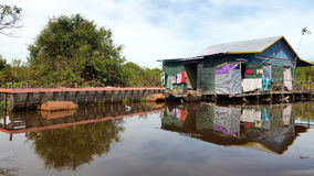 House, Floating village,  Tonle Sap, Siem Reap, Cambodia Royalty Free Stock Photography