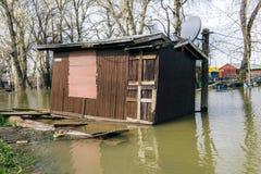 House in flood Stock Photos