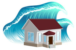 House flooding. Property insurance Royalty Free Stock Image