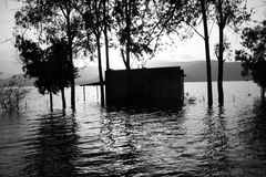 House in Floods Royalty Free Stock Photos