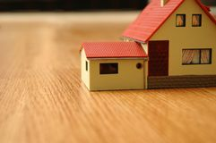House on a floor. The house a toy on a floor Stock Photos