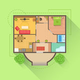 House Floor Interior Design Project View From Above Royalty Free Stock Photo