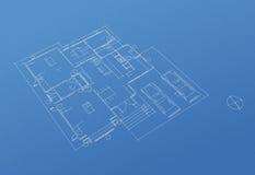 House floor plan blueprint Stock Image