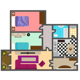 House floor plan vector. For your ideas Royalty Free Stock Image