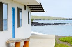 House on Floreana Island. Galapagos royalty free stock photo