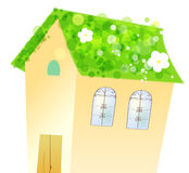 House and flower Stock Image