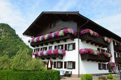 House with flowers Royalty Free Stock Photography