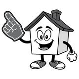 House with Foam Finger Illustration. A vector illustration of a cartoon House Royalty Free Stock Images