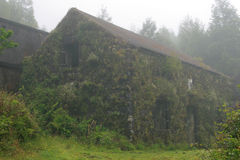 House in fog Stock Image