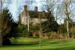 House in the in Fontainebleau park. Palace and park in Fontainebleau Royalty Free Stock Images