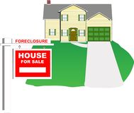 House foreclosure Royalty Free Stock Image