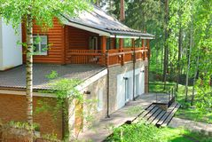 House in forest Stock Photography